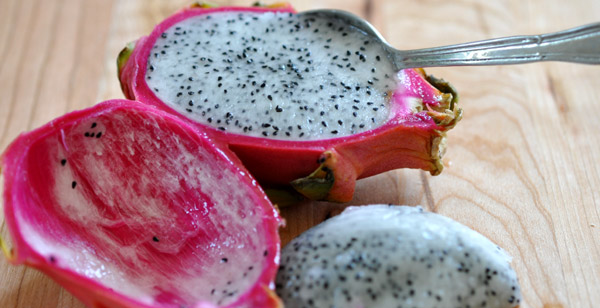 how to cut open and eat a dragon fruit
